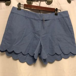 New J. Crew linen blend light blue shorts!